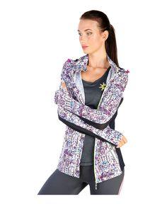 Elle sport - giacca tecnica da donna con cappuccio amovibile - composizione: 92%…