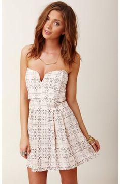 Myne - Chandler Strapless Dress