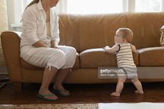 Stockfoto : Caucasian woman with grandson