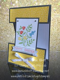 East Easter card using Number of Years stamp set and  Crazy About You stamp set by Stampin' Up!  Www.deniseibbett.stampinup.net