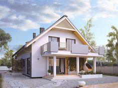 Projekt domu Amarylis 3 152,6 m2 - koszt budowy - EXTRADOM House Front Design, Design Case, Home Fashion, Architecture Design, Kitchen Design, House Plans, Cabin, Mansions, House Styles