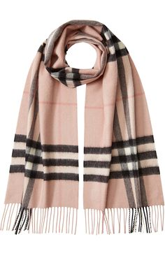 BURBERRY SHOES & ACCESSORIES - Check Print Cashmere Scarf #STYLEBOP