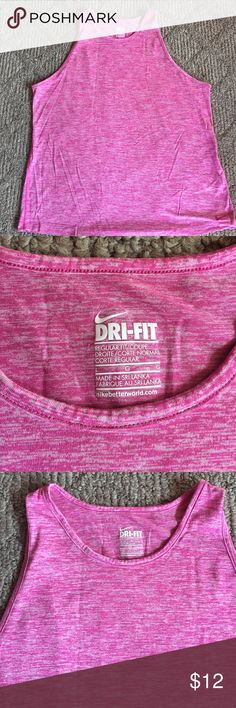 Like new Nike dri-fit tank Pale pink workout top by Nike size L. Dri-fit wicking material. Great color :) Nike Tops Tank Tops