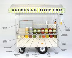 Our Hot Dog Cart - Yummy Dogs Original Hot Dog Catering and Logistics