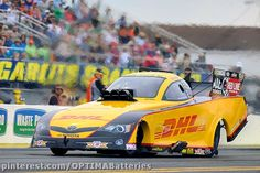 Del Worsham in the OPTIMA-sponsored DHL Funny Car at the #NHRA race at the 2013 Gatornationals