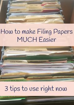 tips for making filing paper easier