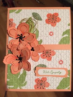 Stampin up Botanical Blooms. I stamped a one sheet wonder and used a textured embossing folder.