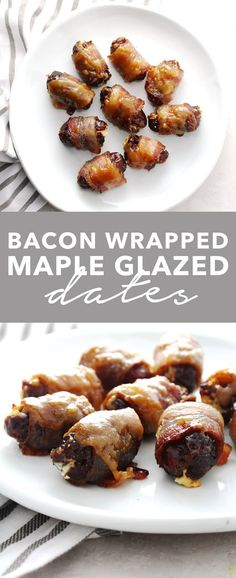 Bacon wrapped maple glazed dates aimee mars the dinner chef рецепты для сви Appetizers For A Crowd, Easy Appetizer Recipes, Yummy Appetizers, Wedding Appetizers, Bacon Dates, Bacon Wrapped Dates, Seafood Recipes, Gourmet Recipes, Healthy Recipes