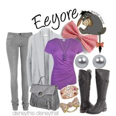 Eeyore- winter, created by disneythis-disneythat on Polyvore