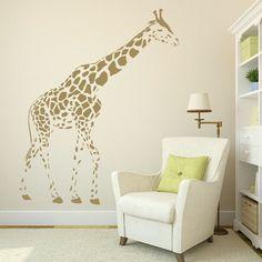 Xlarge Giraffe Wall Decals Peeking Giraffe wall by AmazingWall