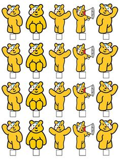 Pudsey Bear Colouring Pages Coloring Pages Bear