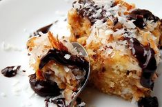 Coconut-Chocolate Chip Bread Pudding   Ingredients:  4 large eggs  3/4 cup heavy whipping cream  1/2 cup coconut milk  3/4 cup granu...