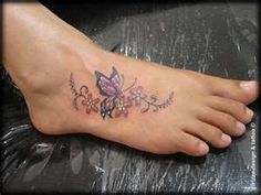 Foot tattoo I really like this one if I ever get one lol