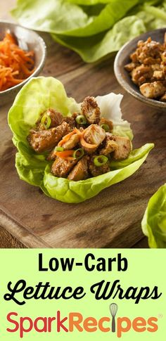 Low-Carb Lettuce Wraps. Taste just like the ones at PF Changs, but SO much healthier!  via @SparkPeople #lowcarb #lettucewrap #healthy #recipe
