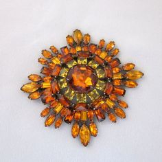 Spectacular Vintage Unsigned Schreiner Pin / Brooch from JryenDesigns.etsy.com
