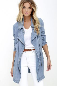 Gentle Fawn Intrepid Blue Chambray Jacket at Lulus.com!