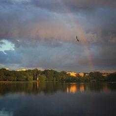 #first #rainbow #hi #life #time #moments #today #season #park #golovino #light #shadow #reflection #water #sky #cloud #sunset by irina_boldina #first #rainbow #hi #life #time #moments #today #season #park #golovino #light #shadow #reflection #water #sky #cloud #sunset