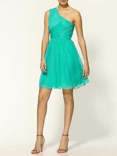 Tibi Arabella Silk One Shoulder Dress