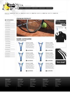 The Tennis Depot / Diseño y desarrollo de website / www.thetennisdepot.com