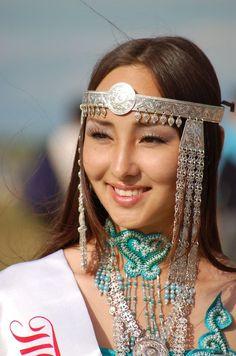 Sakha beauty in the  Republic of Sakha (Yakutia) in the Russian Federation.TÜRK SOYLARI..