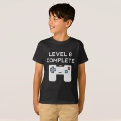 #funny - #Level 8 Complete 8th Birthday T-Shirt