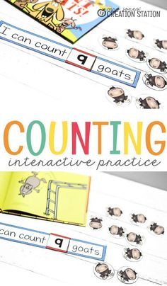 Teaching counting to your students can be such fun with this free printable! Your little learners will enjoy this interactive counting practice with goats! So, come grab the free printable and get your students counting. Number Activities, Counting Activities, Preschool Activities, Preschool Learning, Help Teaching, Teaching Math, Homeschool Math, Homeschooling Resources, Classroom Resources