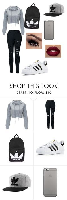 """Untitled #71"" by itz-demo ❤ liked on Polyvore featuring beauty, Topshop, adidas, adidas Originals and Native Union"