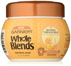 We LOVE hair masks, and this Garnier Whole Blends Repairing Mask will leave hair silky and replenished!