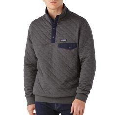 Der leichte, geschmeidige Patagonia Men's Cotton Quilt Snap-T® Pullover aus Bio-Baumwolle und Polyester passt ins Schichtsystem und hält jeden Tag warm.
