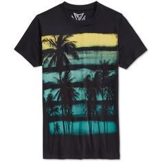Univibe Sunset Stripe T-Shirt ($13) ❤ liked on Polyvore featuring men's fashion, men's clothing, men's shirts, men's t-shirts, black, mens striped t shirt and mens striped shirt