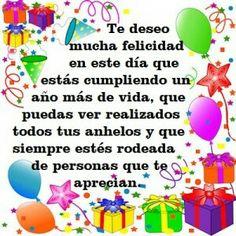 Tarjetas de cumpleaños Spanish Birthday Wishes, Happy Birthday Notes, Happy Birthday Wishes Photos, Birthday Poems, Happy Birthday Wishes Cards, Birthday Greetings, Happy New Year Message, Google, Stuffed Avocado