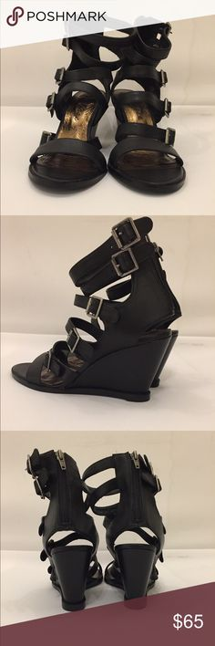 Matisse strappy wedge Black strappy wedge Matisse Shoes Wedges