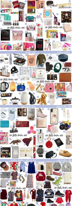Just in time for Black Friday, the ultimate gift guide is here with 150 gift ideas under $100. Find an affordable present for everyone on your list! // affordable gifts for the holidays, hard to shop for gifts, christmas gifts under $50, gifts for kids, stocking stuffers, white elephants gifts, secret santa present ideas