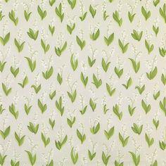 Lily of the valley -kangas - vaaleanharmaa - Sandberg Tyg & Tapet