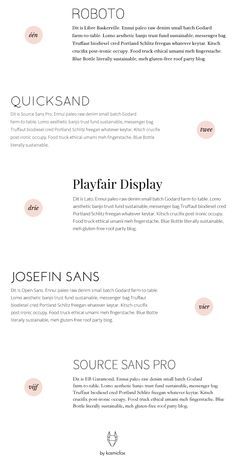 5 Pretty Google Font Combinations for Webdesign