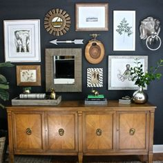 Turn a blank wall in your home into an electric gallery wall using my tips from creating this art wall in our home office!