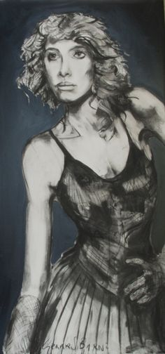 What about me?, Figurative, charcoal and oil  on canvas, Gerard Byrne, www.gerardbyrneartist.com SOLD