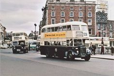 The origins of bus services in Dublin go back to the first horse tram, the Terenure route, in A network of tram routes developed quickly, and the network was electrified between 1898 and Dublin Street, Dublin City, Dublin Ireland, Ireland Travel, Old Pictures, Old Photos, Old Irish, Irish Art, Old Lorries