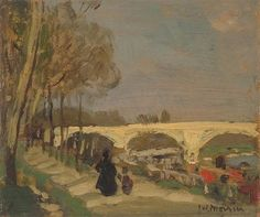 James Wilson Morrice, At Charenton, Made of oil on wood