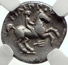 PHILIP II 323BC Macedonia Authentic Ancient Silver Greek OLYMPIC Coin NGC i68614