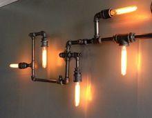 Livraison gratuite Hot American Vintage Aisle industrielle lampe de paroi de la canalisation d'eau lumières Bar Restaurant E27 Edison rétro lampe murale(China (Mainland))