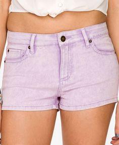 Acid Wash Denim Shorts | FOREVER 21 - 2037196631