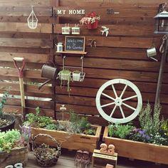 観葉植物/フェイクグリーン/ウッドデッキ DIY/植物/ウッドデッキ/手作り…などのインテリア実例 - 2015-02-21 20:14:24 | RoomClip(ルームクリップ)