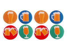 Conjunto Porta Copos Cervejas - 8 peças -  -  Dom Gato