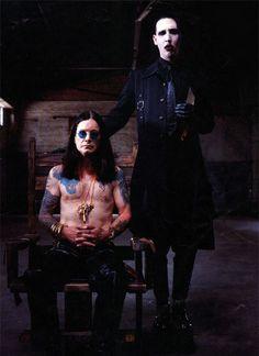 Ozzy Osbourne & Marilyn Manson.