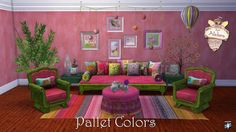 Sims 4 CC's - The Best: Pallet Colors Living Conversions and Recolors by A...