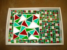 PiP = Project in Process: Glass Mosaic Tray