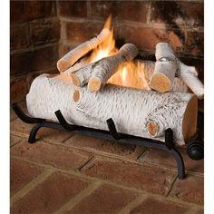 Large Ceramic Logs | Gel Fuel & Ethanol | Plow & Hearth