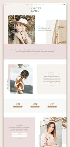 Harlowe: Blog & Shop WordPress Theme by Pix & Hue on @creativemarket Double Image, Single Image, Site Inspiration, Web Design, Graphic Design, Print Design, Blog Layout, Custom Fonts, Social Media Icons