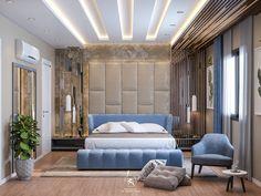 Master bed room design on Behance Wardrobe Design Bedroom, Luxury Bedroom Design, Master Bedroom Design, Bedroom Designs, Double Bed Designs, Bedroom False Ceiling Design, Modern Room, Modern Decor, Office Interior Design